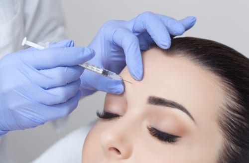 facial injections procedure for tightening and smoothing wrinkles on the face skin of a beautiful, young woman-img-blog