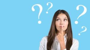 brunette woman wondering